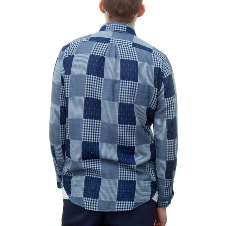 Portuguese Flannel Remendo Shirt (Blue)
