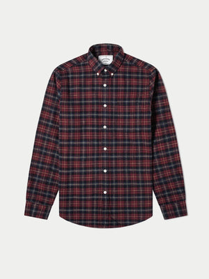 Portuguese Flannel Studio Shirt (Black & Red) 1
