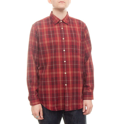 Portuguese Flannel Tinto Shirt (Red & White) 1