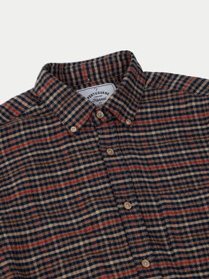 Portuguese Flannel Twill Shirt (Blue) 2