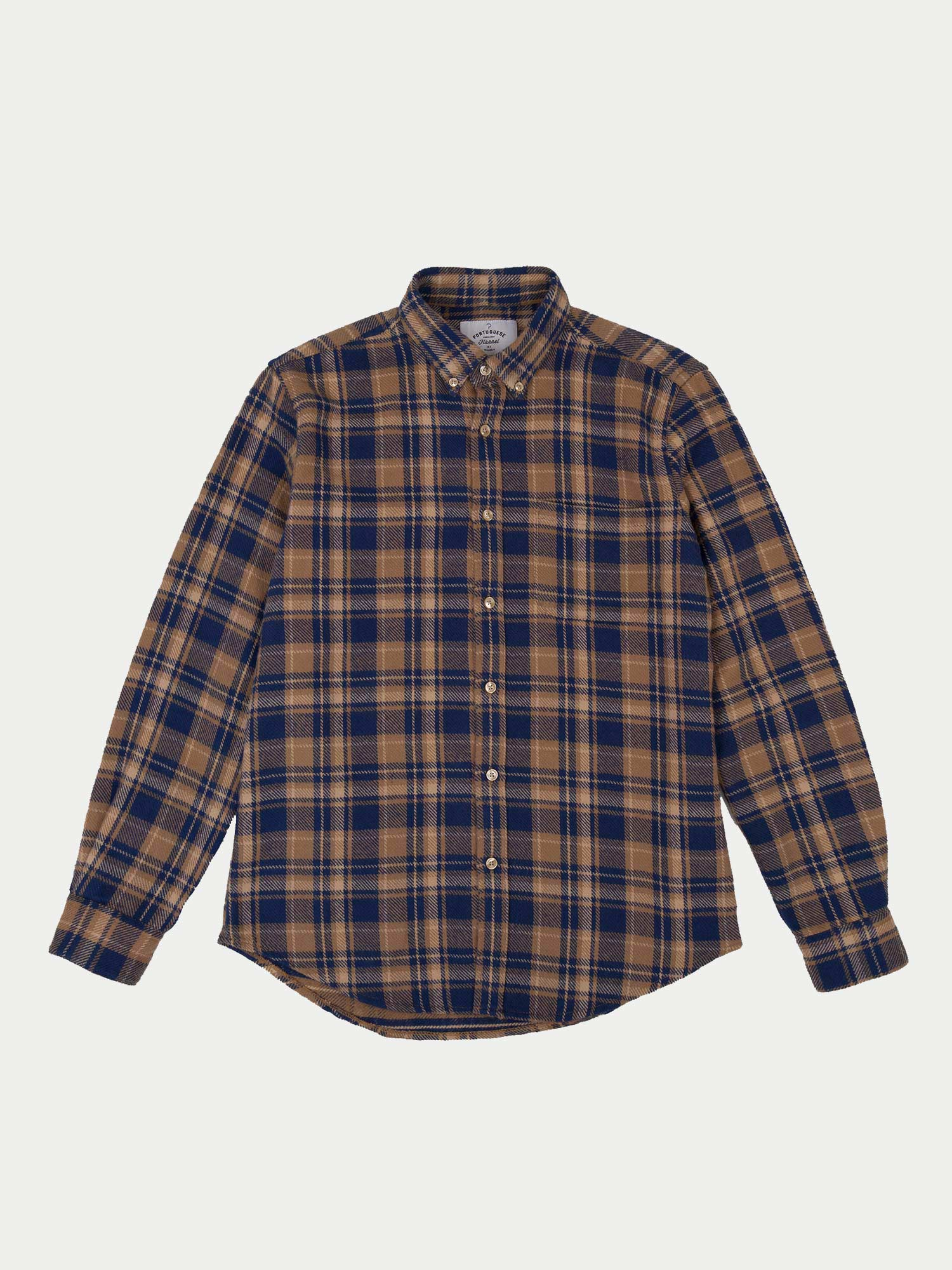 Portuguese Flannel Union Shirt (Brown)