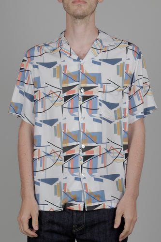 Portuguese Flannel Geometry One Short Sleeve Shirt (Multi) Front