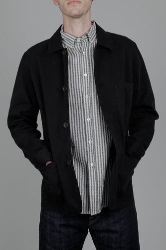 Portuguese Flannel Labura Jacket (Black) Model