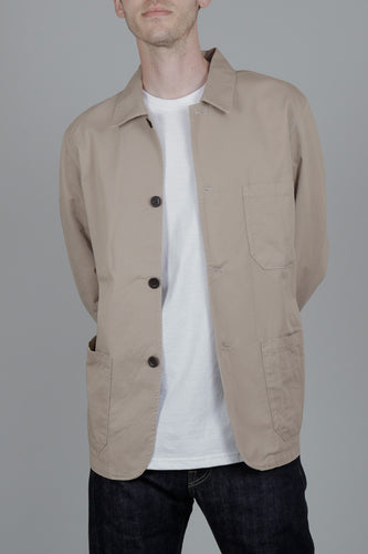 Portuguese Flannel Labura Jacket (Sand) Model