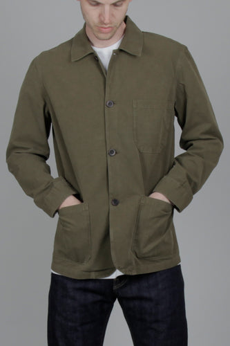 Portuguese Flannel Ripstop Labura Jacket (Military Olive) Model