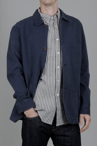 Portuguese Flannel Ripstop Labura Jacket (Navy) Front