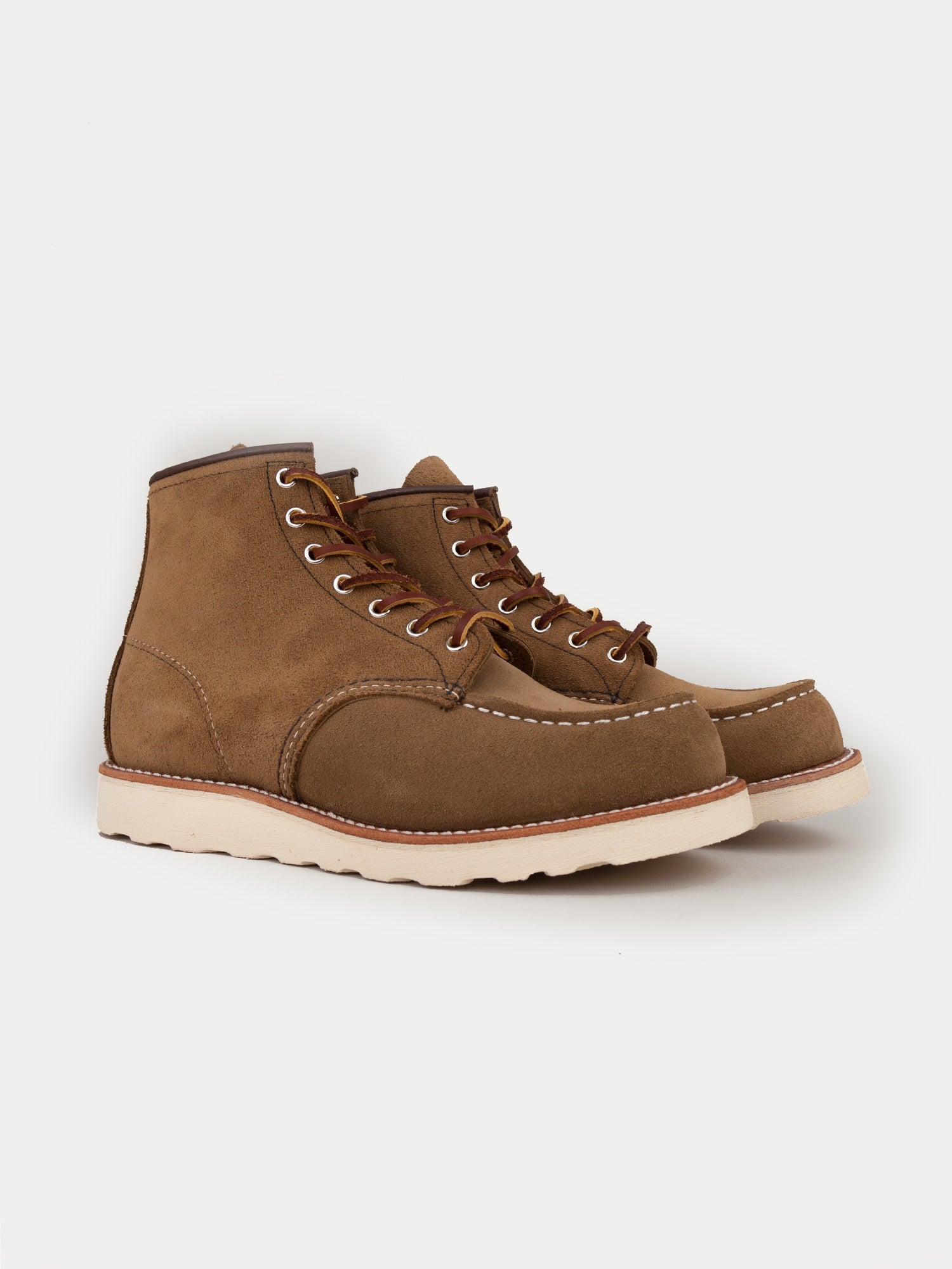 Red Wing 6 Inch Classic Moc Boots (Olive Mohave)