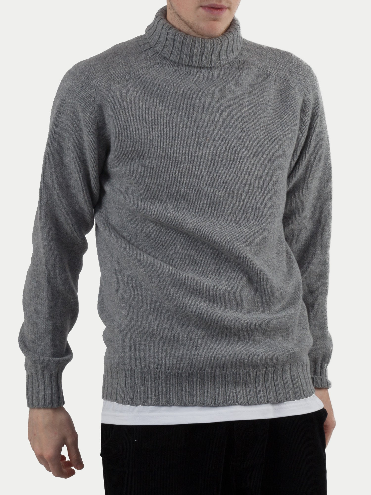 SIXES Delaney Roll Neck Jumper (Flannel Grey) m1