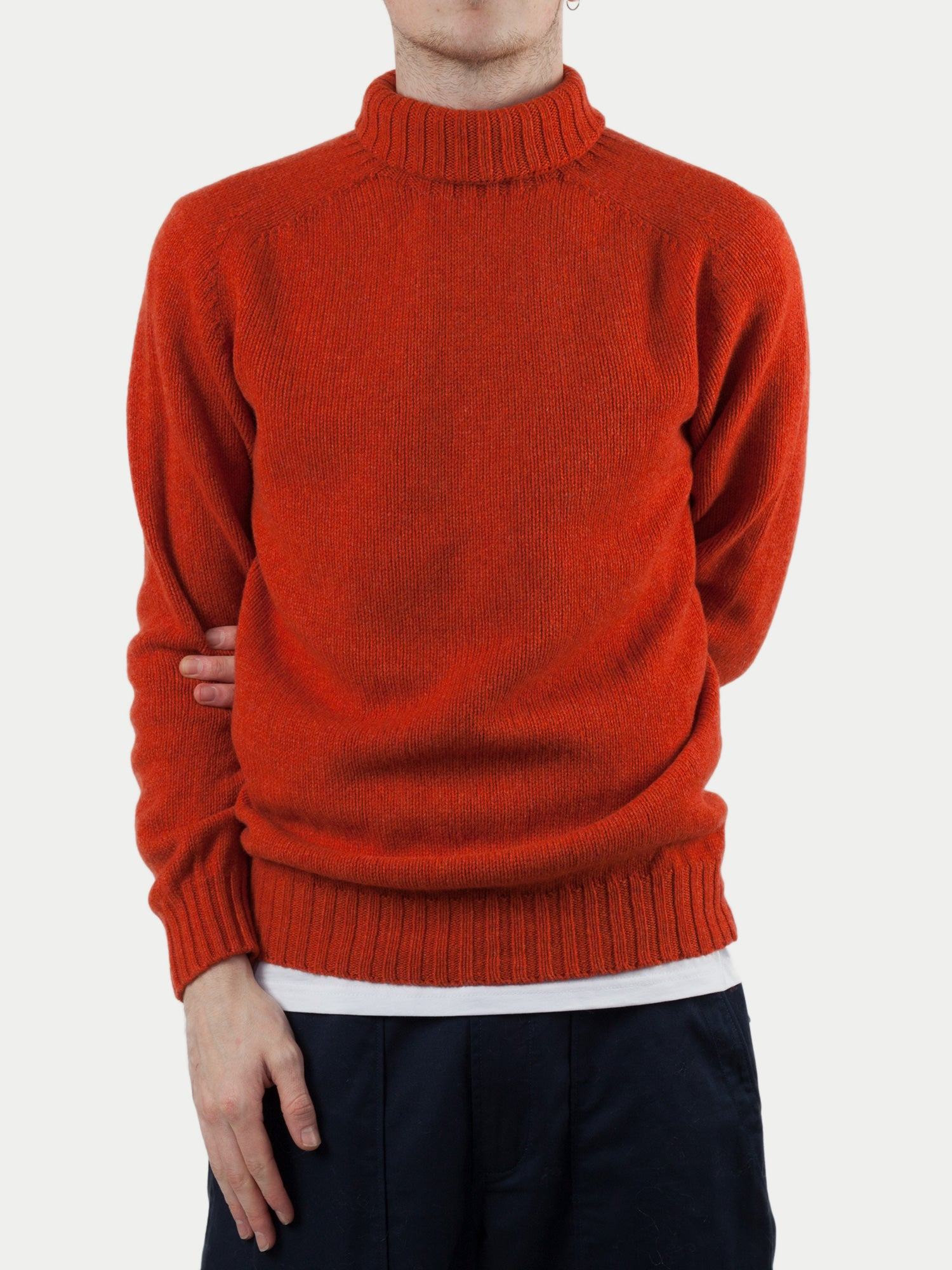 SIXES Delaney Roll Neck Jumper (Furnace Orange) m1