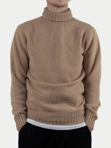 SIXES Delaney Roll Neck Jumper (Sandstorm Tan) m1