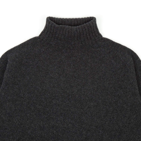 SIXES Geelong Roll Neck Knit (Charcoal)