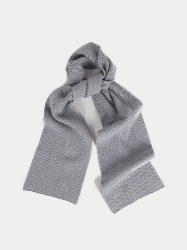 SIXES Island Scarf (Seal & Pearl Grey) 1