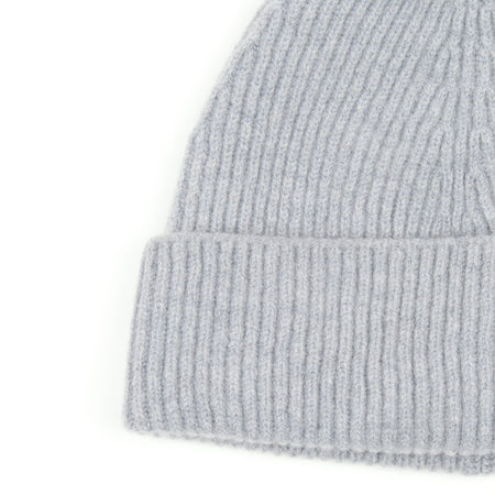 SIXES Lambswool Fine Rib Beanie (Seal)