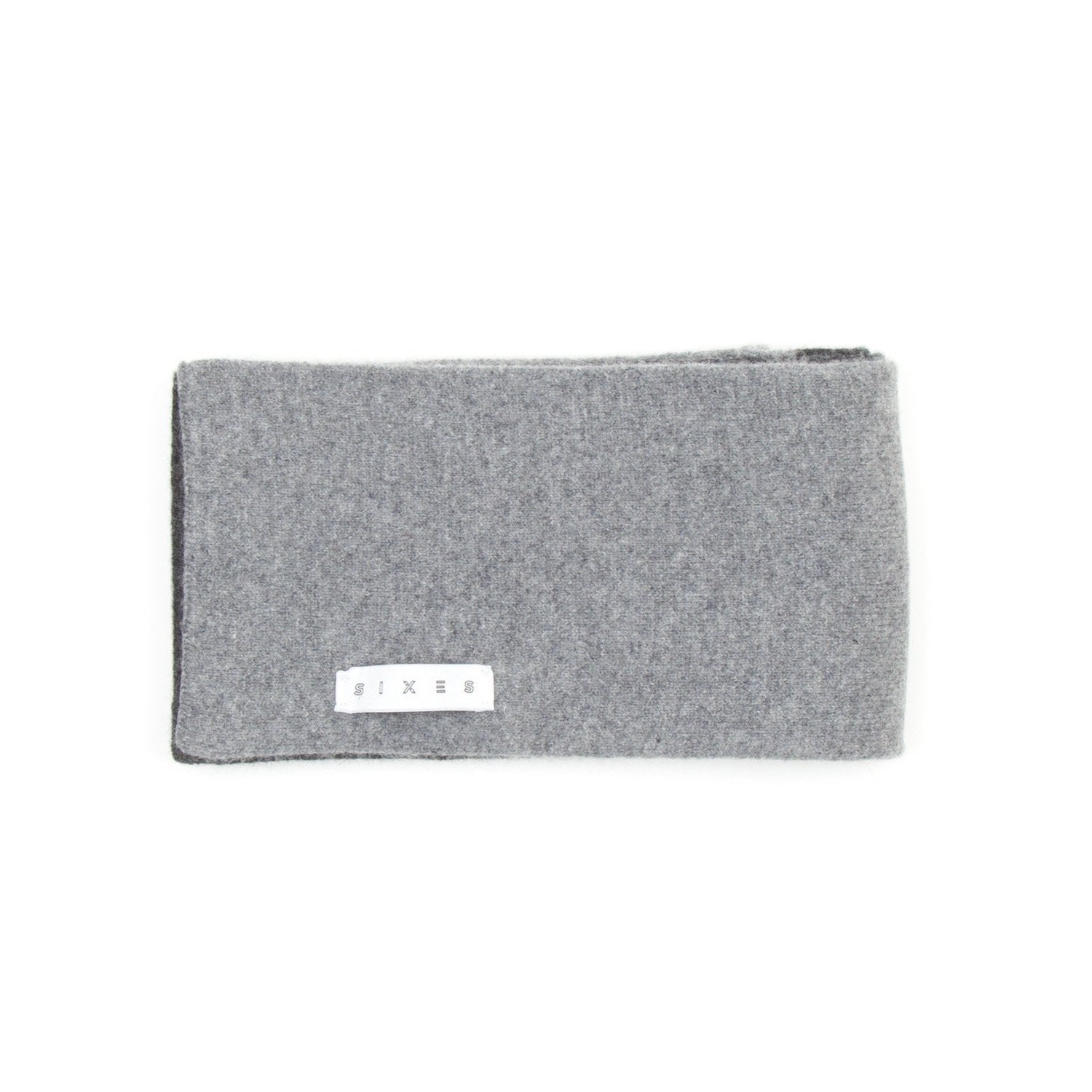 SIXES Lambswool Two Tone Scarf (Charcoal & Grey) 1