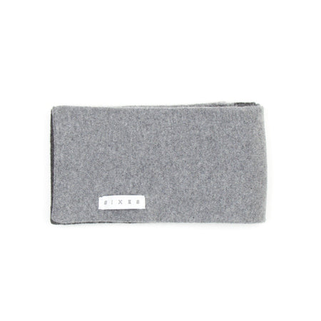 SIXES Lambswool Two Tone Scarf (Charcoal & Grey)