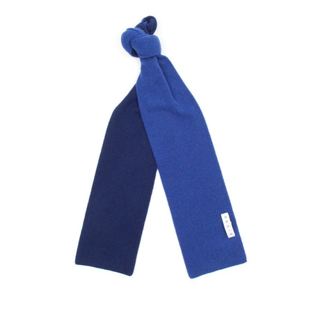 SIXES Lambswool Two Tone Scarf (Persian & Niagara)