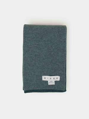 SIXES Lambswool Two Tone Scarf (Taupe & Navy)