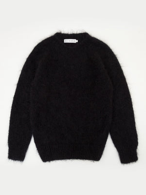 SIXES Mohair Thurbin Crew Neck (Black)