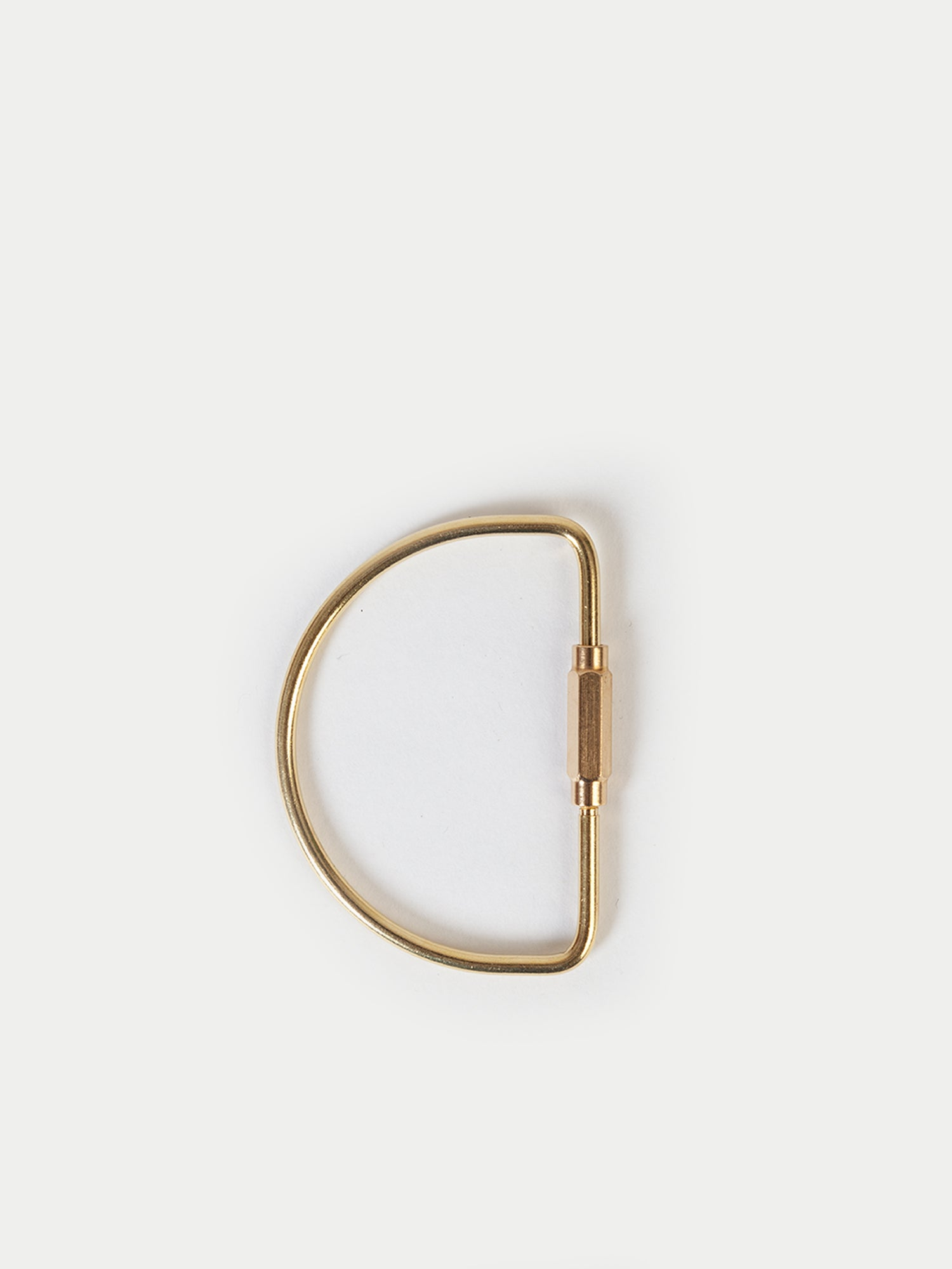 Sixes Semicircle Keyring (Brass)