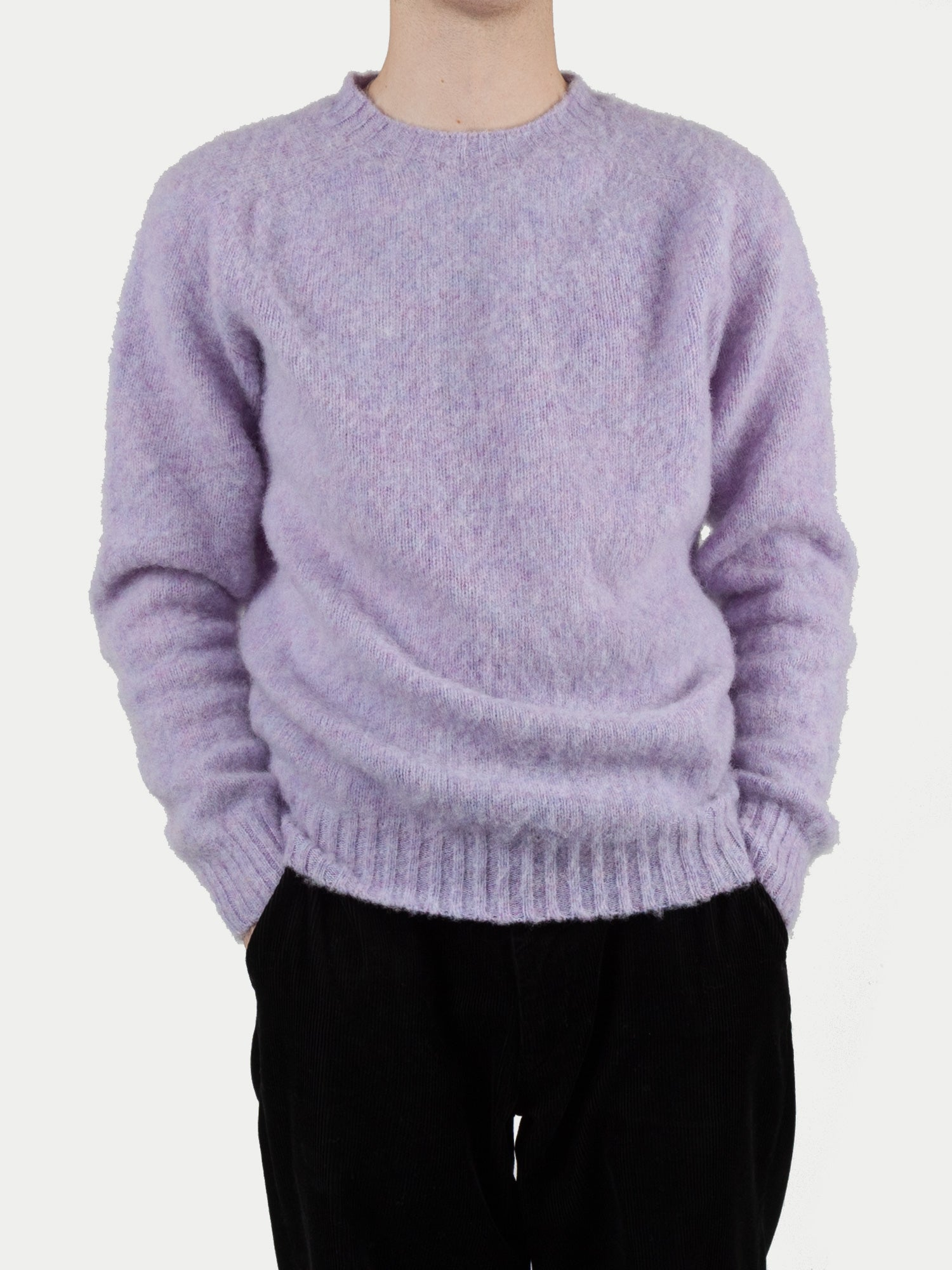 SIXES Supersoft Double Brushed Crew Neck (Confetti Purple)