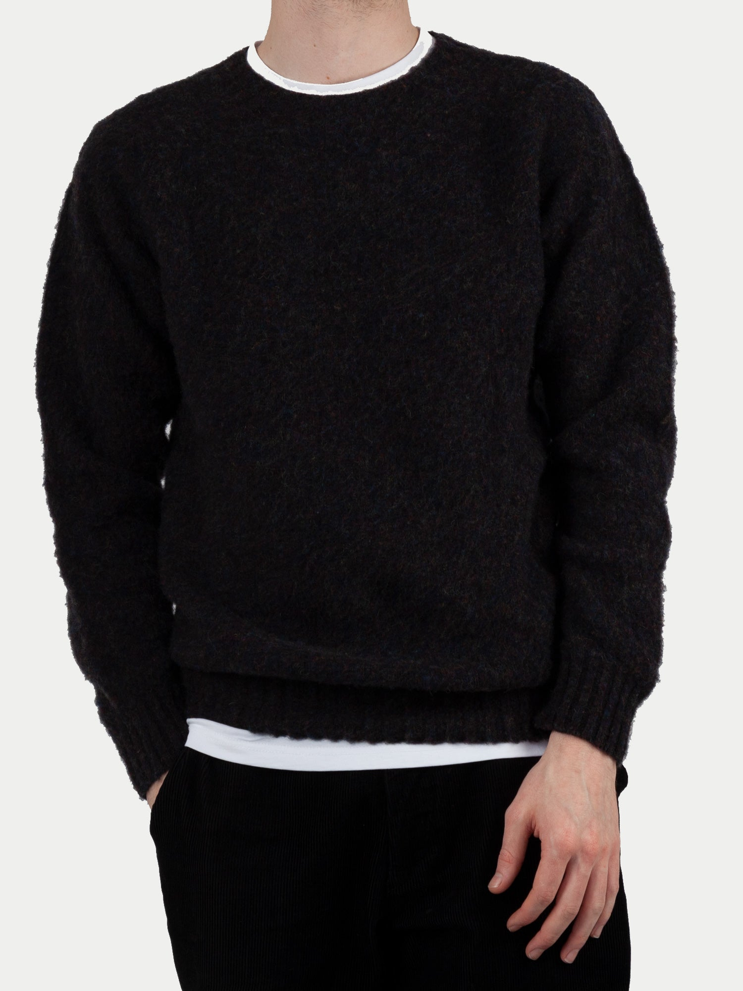 SIXES Supersoft Double Brushed Crew Neck (Midnight Charcoal) m1