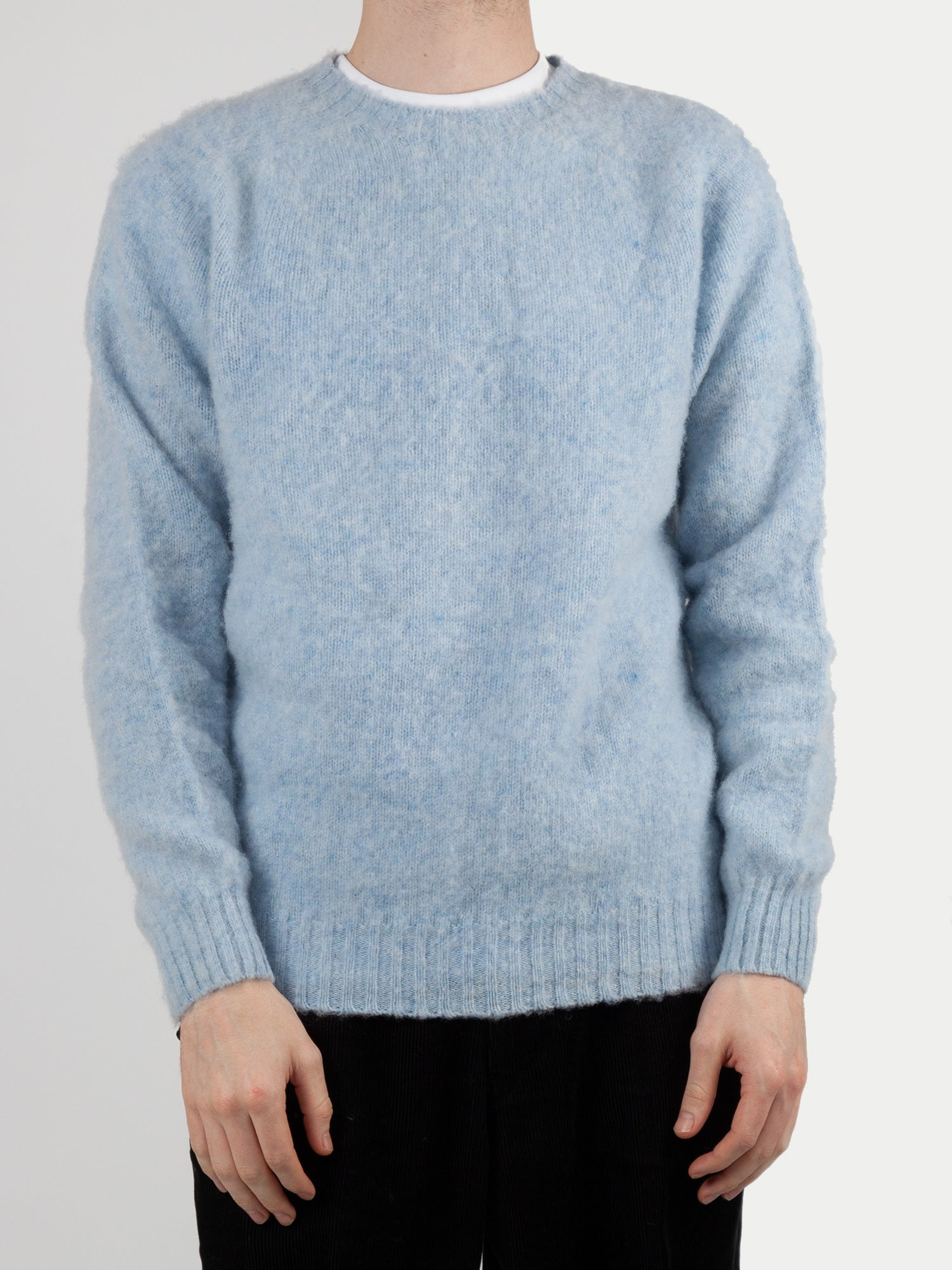 SIXES Supersoft Double Brushed Crew Neck (Powder Blue) 1