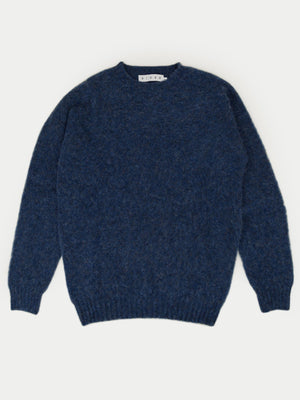 SIXES Thurbin Triple Brushed Crew (Navy Marl)