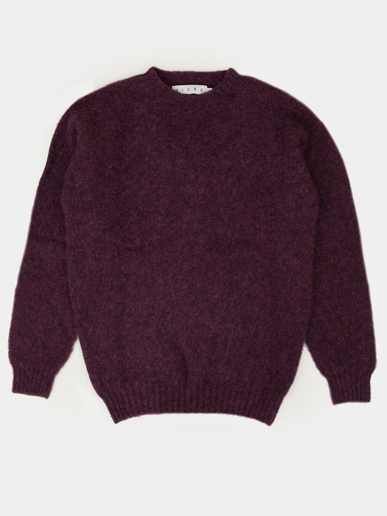 SIXES Thurbin Triple Brushed Crew (Plum)