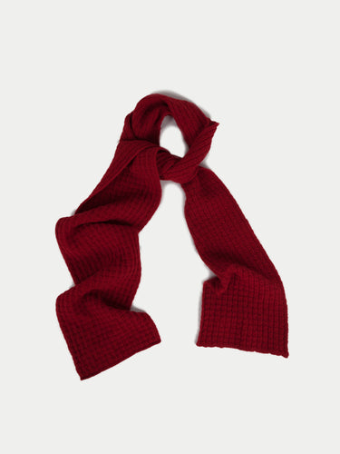 SIXES Waffle Textured Scarf (Crimson Red) 1