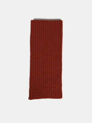 SIXES Waffle Textured Scarf (Ember Orange) 2