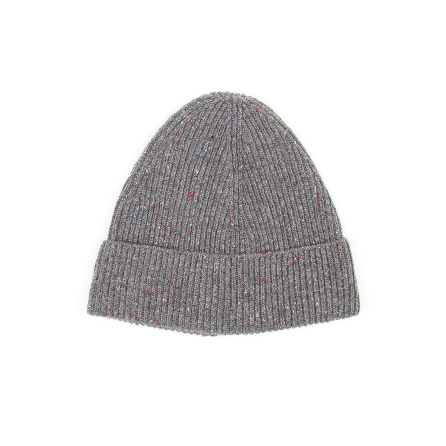SIXES Wool Donegal Beanie (Grey Fleck) 1