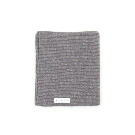 SIXES Wool Donegal Scarf (Grey Fleck)
