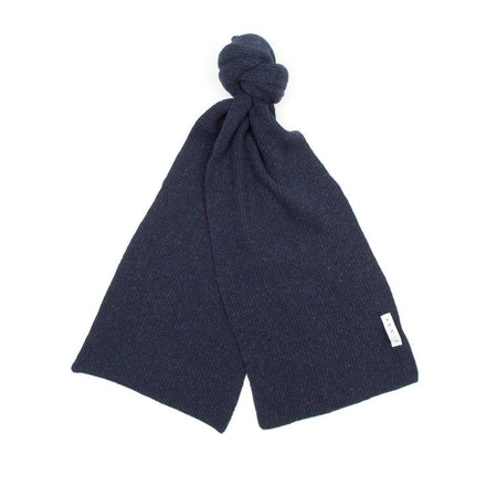 SIXES Wool Donegal Scarf (Navy Fleck)