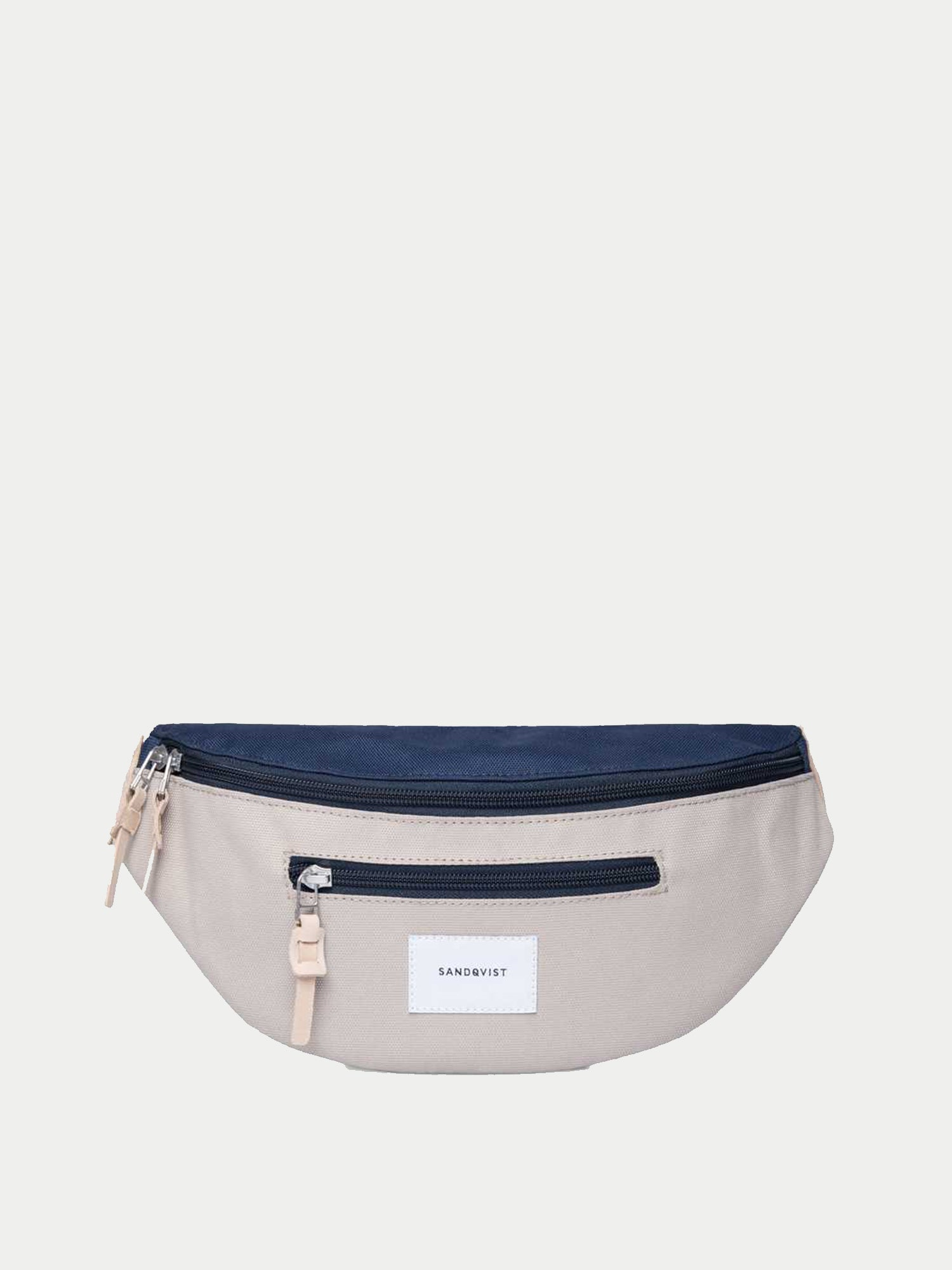 Sandqvist Aste Bum Bag (Beige & Blue)