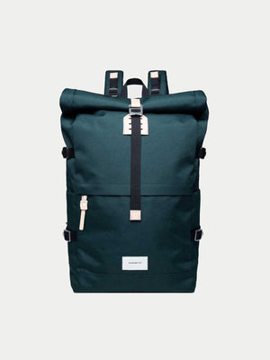 Sandqvist Bernt Backpack (Dark Green & Natural)1