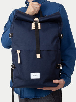 Sandqvist Bernt Backpack (Navy & Natural) 11