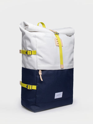 Sandqvist Bernt Backpack (Off White & Blue) 2