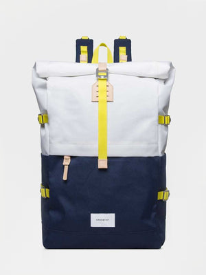 Sandqvist Bernt Backpack (Off White & Blue) 1