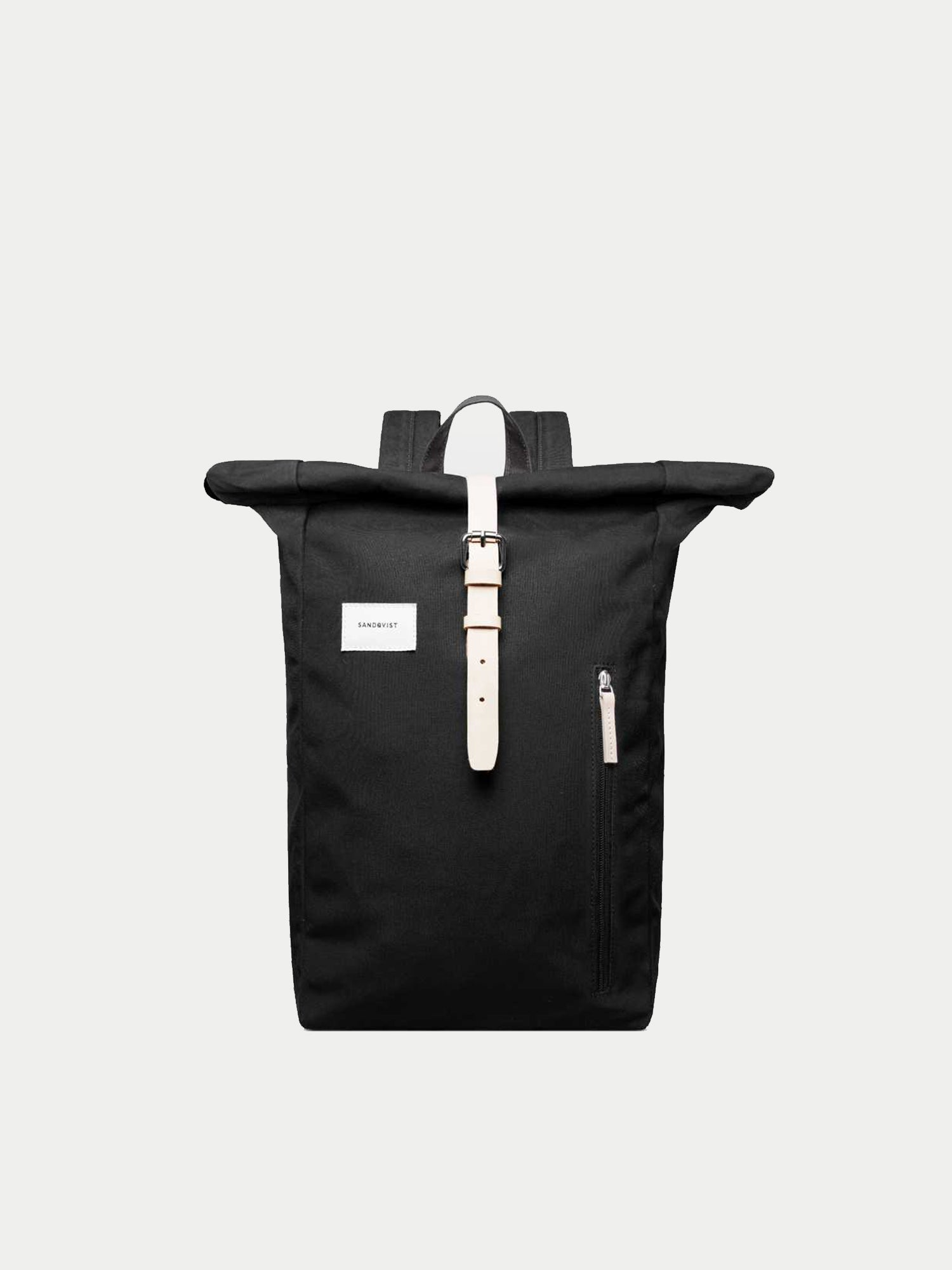 Sandqvist Dante Rolltop Backpack (Black & Natural) 1