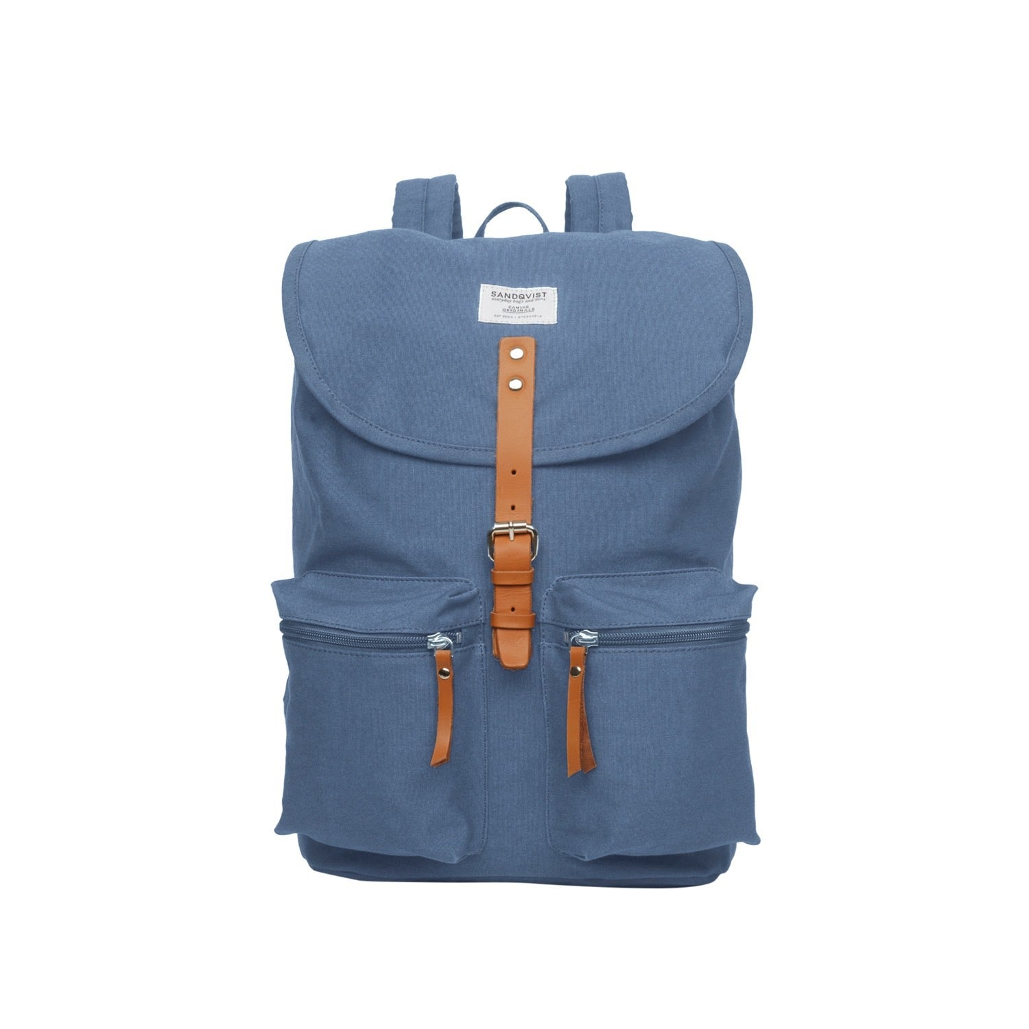 Sandqvist Roald Backpack (Dusty Blue)-1