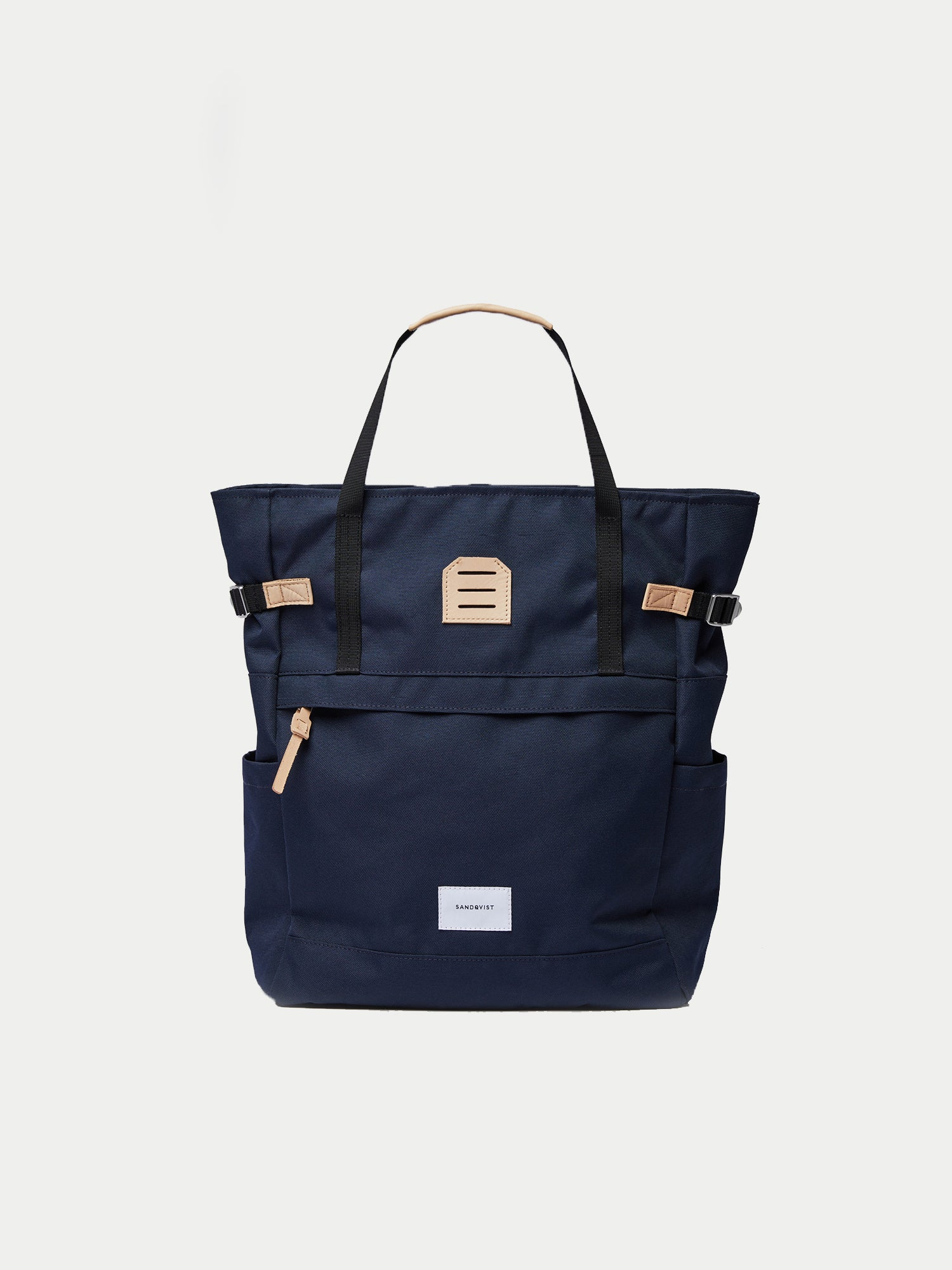 Sandqvist Roger Tote Bag (Navy & Natural) 1