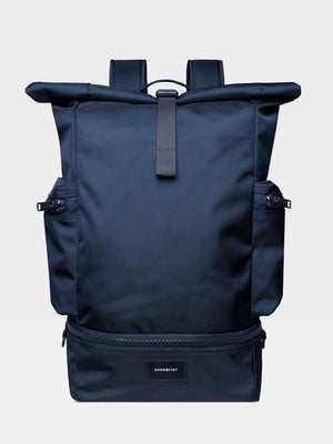 Sandqvist Verner Rolltop Backpack (Navy) 1