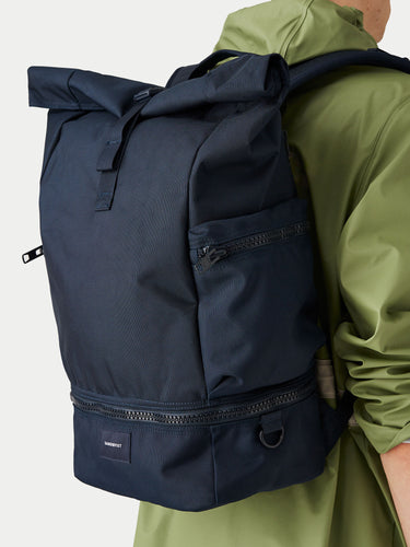 Sandqvist Verner Rolltop Backpack (Navy) m1