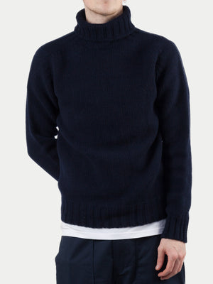 Sixes Geelong Thick Knit Roll Neck (Nero Navy) m1