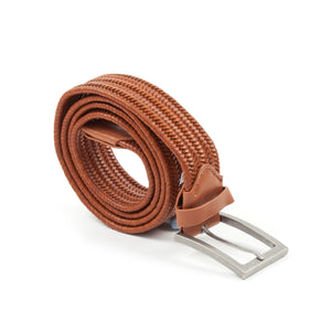 Sixes Leather Braided Belt (Tan)-1
