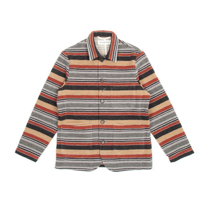 Universal Works Bakers Chore Jacket (Blanket Stripe)2