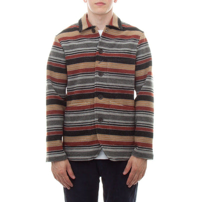 Universal Works Bakers Chore Jacket (Blanket Stripe)1