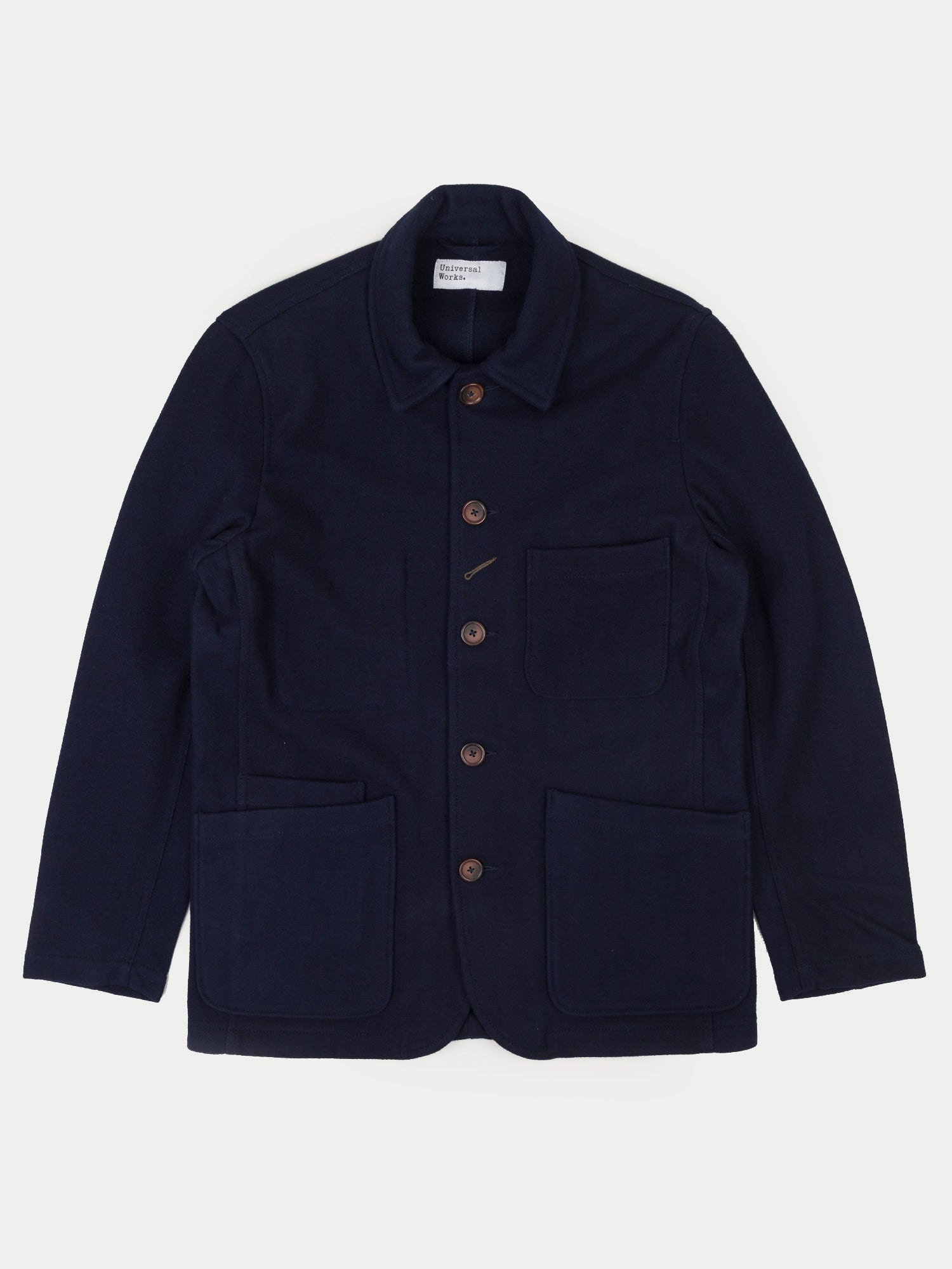 Universal Works Bakers Jacket Long (Navy Mowbray)