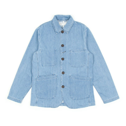 Universal Works Bakers Jacket (Summer Denim Indigo)-1