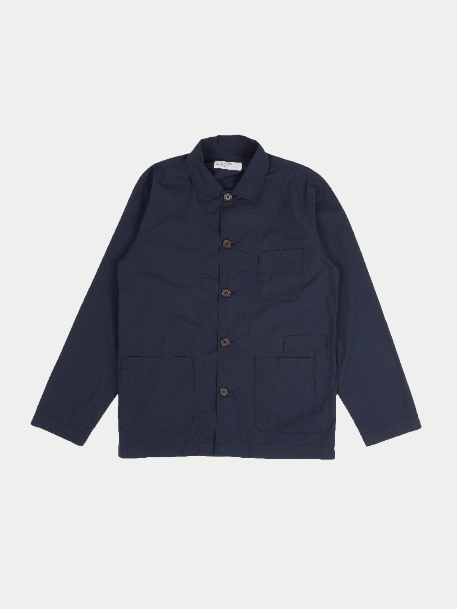 Universal Works Bakers Overshirt (Navy Poplin)